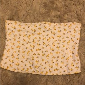 NWOT Reversible Yellow Flower Tube Top